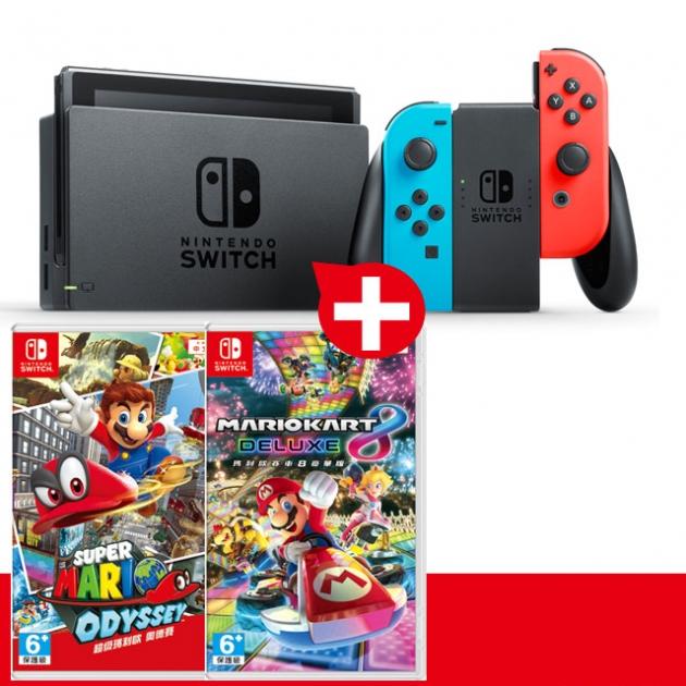 任天堂 Nintendo Switch 瑪利歐超值組 台灣公司貨 1